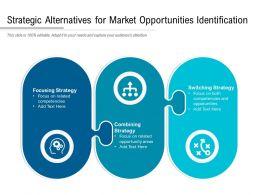 Strategic Alternatives For Market Opportunities Identification