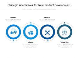 Strategic Alternatives For New Product Development