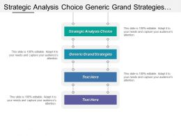Strategic Analysis Choice Generic Grand Strategies Functional Tactics