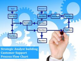 Strategic Analyst Building Customer Support Process Flow Chart