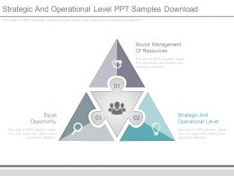 Strategic And Operational Level Ppt Samples Download