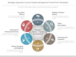 Strategic Approach Human Capital Management Powerpoint Templates