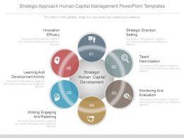 Strategic Approach Human Capital Management Powerpoint Templates