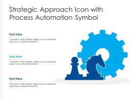Strategic Approach Icon With Process Automation Symbol