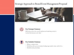 Strategic Approach To Brand Event Management Proposal Ppt Powerpoint File