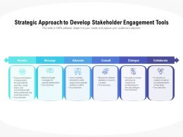 Strategic Approach To Develop Stakeholder Engagement Tools