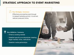 Strategic Approach To Event Marketing Ppt Powerpoint Presentation Example