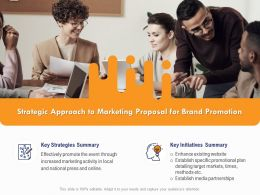 Strategic Approach To Marketing Proposal For Brand Promotion Ppt Powerpoint Presentation Infographics
