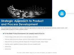 Strategic Approach To Product And Process Development