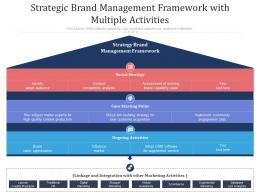 Strategic Brand Management Framework With Multiple Activities