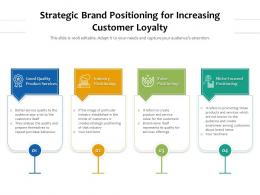 Strategic Brand Positioning For Increasing Customer Loyalty