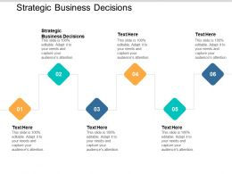 Strategic Business Decisions Ppt Powerpoint Presentation Gallery Infographic Template Cpb