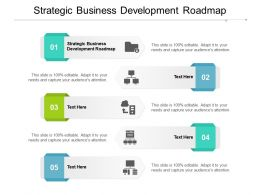 Strategic Business Development Roadmap Ppt Powerpoint Presentation Icon Cpb