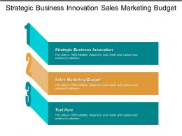 Strategic Business Innovation Sales Marketing Budget Employee Engagement Survey Cpb