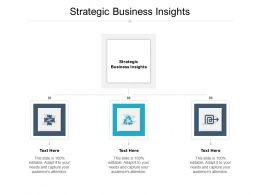 Strategic Business Insights Ppt Powerpoint Presentation Background Images Cpb