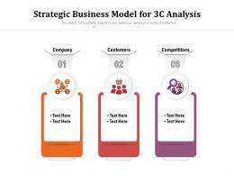 Strategic Business Model For 3c Analysis