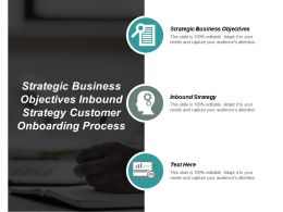 Strategic Business Objectives Inbound Strategy Customer Onboarding Process Cpb