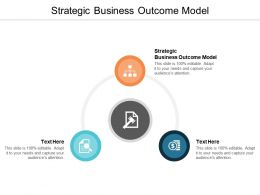 Strategic Business Outcome Model Ppt Powerpoint Presentation Model Deck Cpb