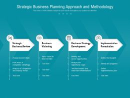 Strategic Business Planning Approach And Methodology