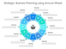 Strategic Business Planning Using Annual Wheel Infographic Template