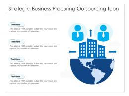 Strategic Business Procuring Outsourcing Icon