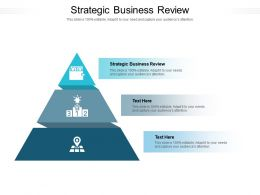 Strategic Business Review Ppt Powerpoint Presentation Gallery Master Slide