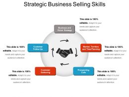 Strategic Business Selling Skills Ppt Slide