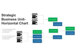 Strategic Business Unit Horizontal Chart Powerpoint Layout