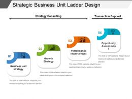 Strategic Business Unit Ladder Design Powerpoint Presentation