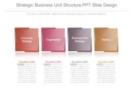 Strategic Business Unit Structure Ppt Slide Design