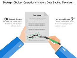 Strategic Choices Operational Matters Data Backed Decision Making Elements
