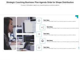 Strategic Coaching Business Plan Agenda Slide For Shape Distribution Infographic Template