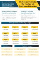 Strategic Communication Map Template With Objectives And Advantages Report PPT PDF Document