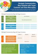 Strategic Communication Map Template With Target Customer And Value Messaging PPT PDF Document