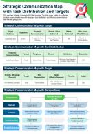 Strategic Communication Map With Task Distribution And Targets Report PPT PDF Document