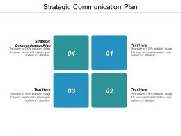 Strategic Communication Plan Ppt Powerpoint Presentation Infographic Template Layout Ideas Cpb