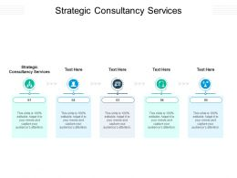 Strategic Consultancy Services Ppt Powerpoint Presentation Infographic Template Deck Cpb