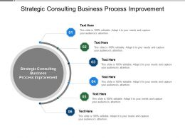 Strategic Consulting Business Process Improvement Ppt Powerpoint Presentation Model Cpb