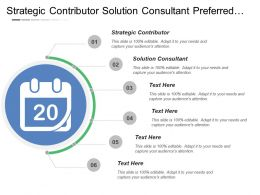 Strategic Contributor Solution Consultant Preferred Supplier Approved Vendor