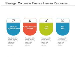 Strategic Corporate Finance Human Resources Trainings Project Financing Training Cpb