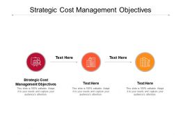 Strategic Cost Management Objectives Ppt Powerpoint Presentation Examples Cpb