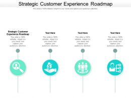 Strategic Customer Experience Roadmap Ppt Powerpoint Presentation Infographic Template Graphic Cpb