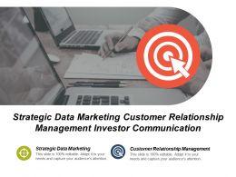 Strategic Data Marketing Customer Relationship Management Investor Communication Cpb