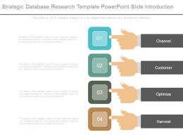 Strategic Database Research Template Powerpoint Slide Introduction