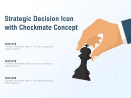 Strategic Decision Icon With Checkmate Concept