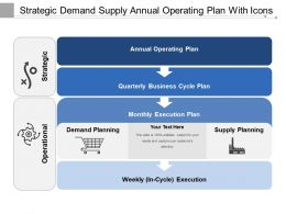 Strategic Demand Supply Annual Operating Plan With Icons