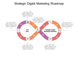 Strategic Digital Marketing Roadmap Ppt Powerpoint Presentation Model Cpb