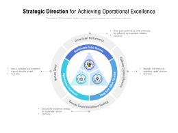 Strategic Direction For Achieving Operational Excellence