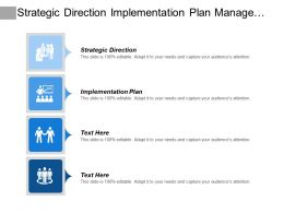 Strategic Direction Implementation Plan Management Team Planning Improvement