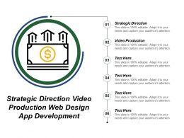 Strategic Direction Video Production Web Design App Development